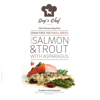 DOG'S CHEF Atlantic Salmon & Trout with Asparagus for SMALL BREED 500mg