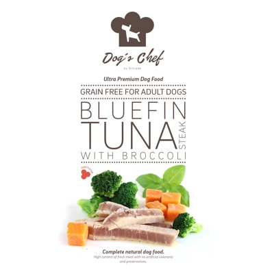 DOG'S CHEF Bluefin Tuna steak with Broccoli 500g