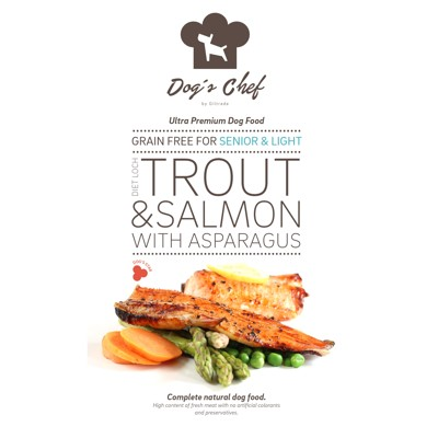 DOG'S CHEF Diet Loch Trout & Salmon with Asparagus SENIOR & LIGHT 500mg