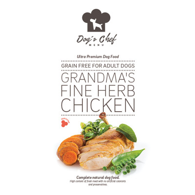 DOG'S CHEF Grandma's Fine Herb Chicken 500g