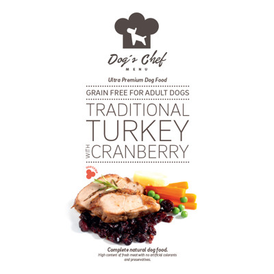 DOG'S CHEF Traditional Turkey with Cranberry 500g