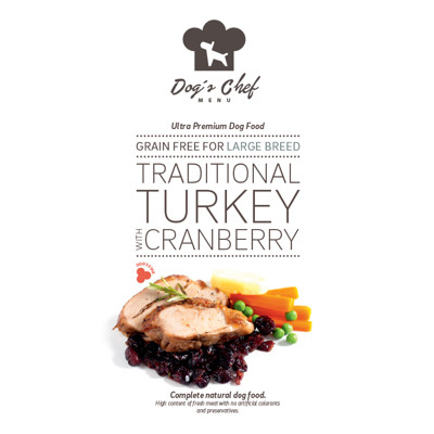 DOG'S CHEF Traditional Turkey with Cranberry for LARGE BREED 500g