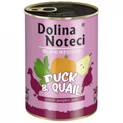 Dolina Noteci Superfood Kačka a prepelica 400g