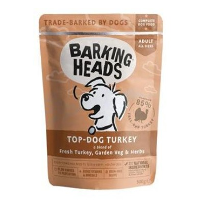 BARKING HEADS Top Dog Turkey kapsička 300g